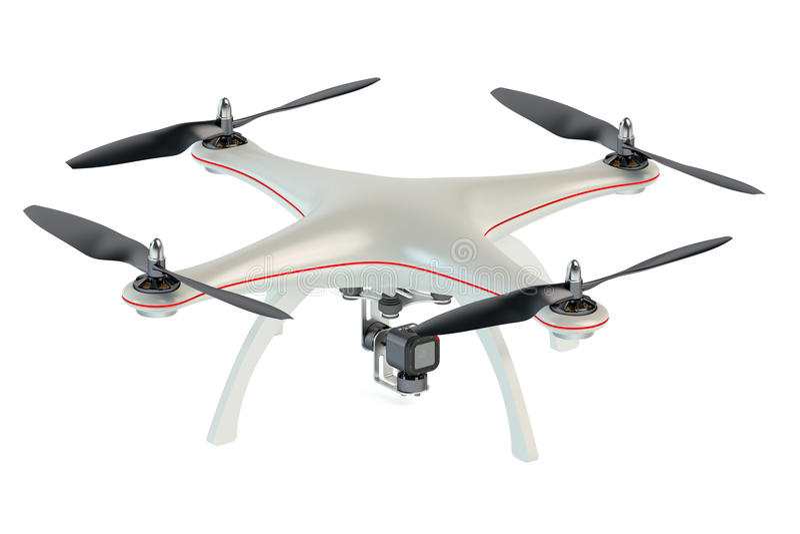 Brummen quadrocopter lizenzfreie abbildung