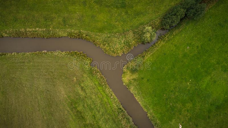 Brummenansicht von irigation Kanal stockbild