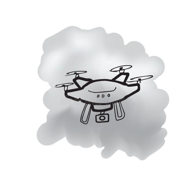 Brummenfunksteuerungs-Karikaturzeichnung stock abbildung