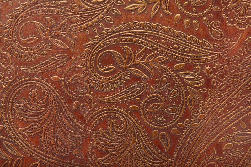 brun blom- lädermodell royaltyfria bilder