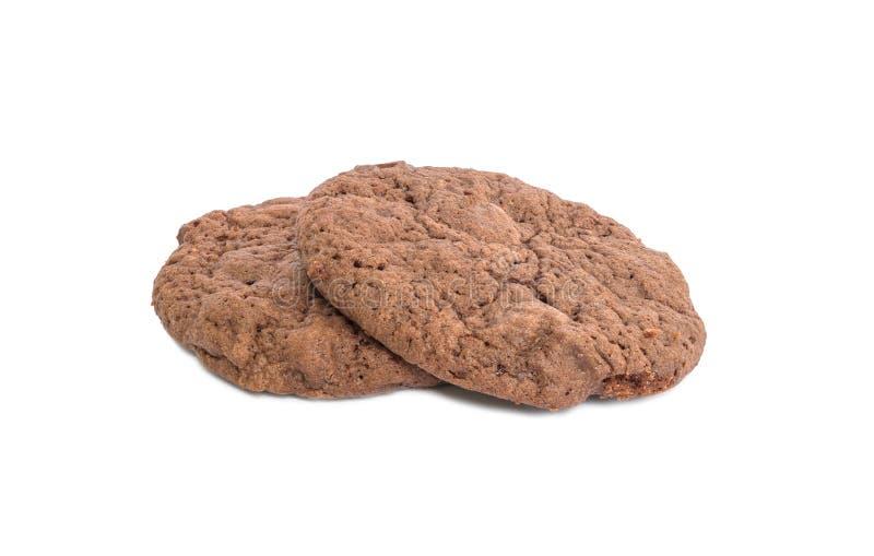 Brun chokladkaka för Closeup som isoleras på vit bakgrund royaltyfri foto