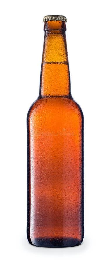 brun cold för ölflaska royaltyfri foto
