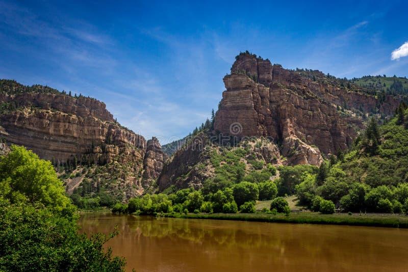 Brun Coloradofloden arkivbilder