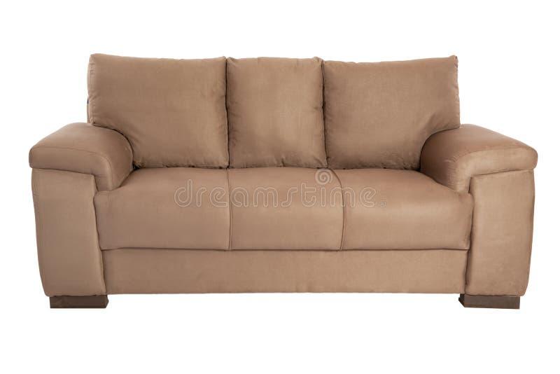 Brun confortable de trois sièges photos stock