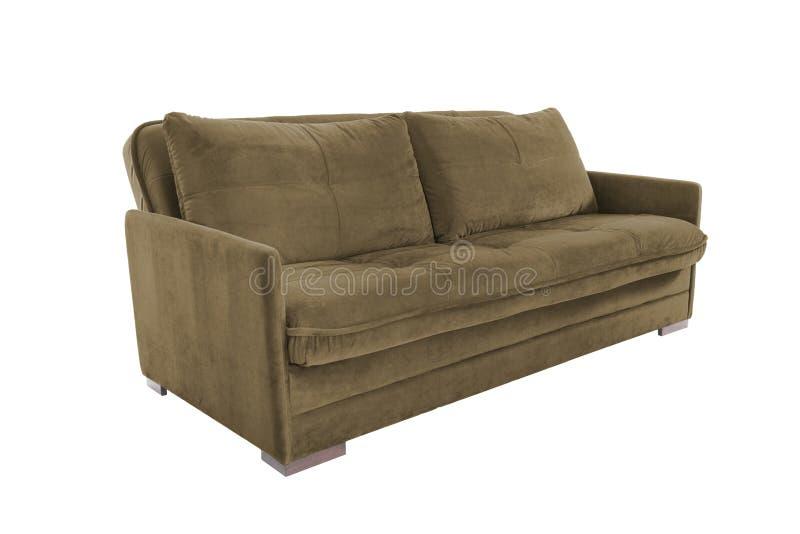 Brun confortable de trois sièges photographie stock