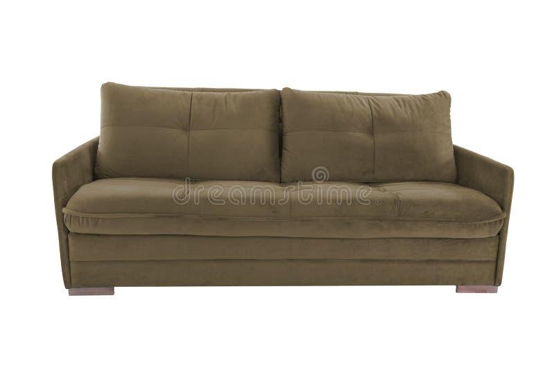 Brun confortable de trois sièges images libres de droits