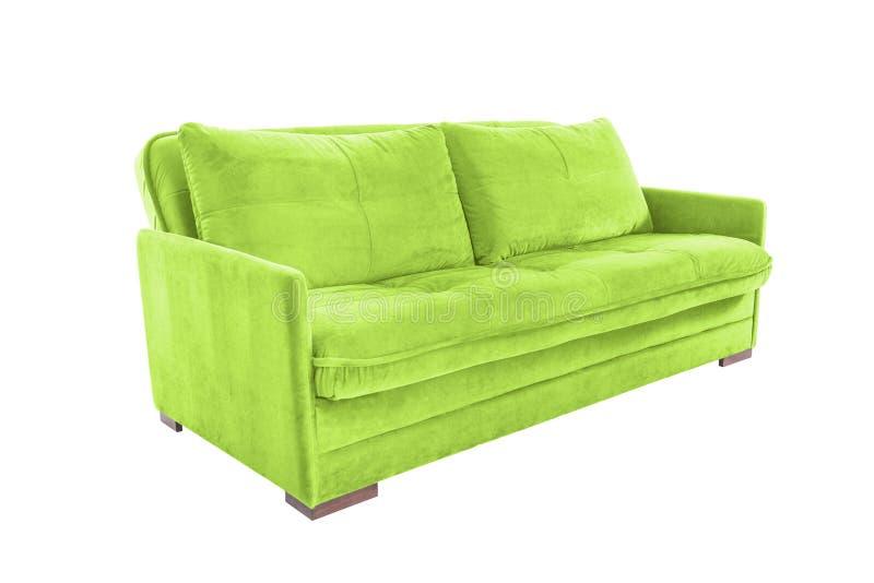 Brun confortable de trois sièges photo libre de droits