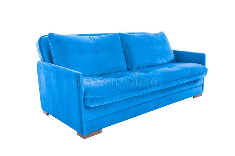 Brun confortable de trois sièges image stock
