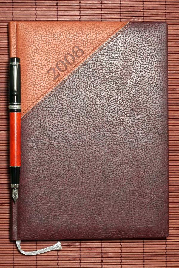 brun dagbok royaltyfria foton