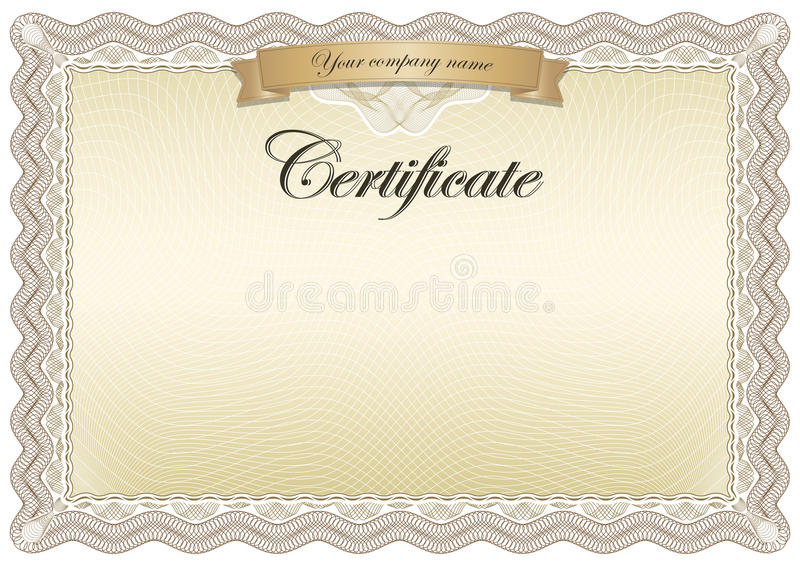 Brun de certificat illustration de vecteur