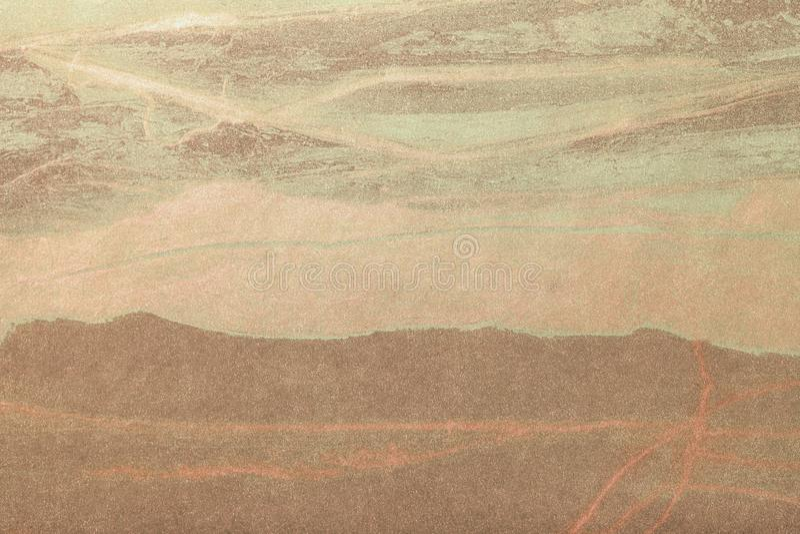Brun de fond d'art abstrait et couleur en bronze Peinture multicolore sur la toile image stock