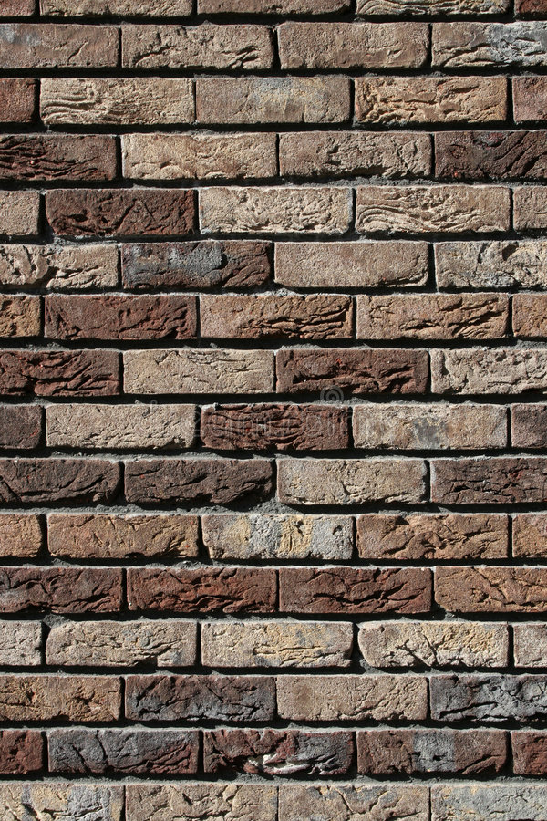 Brun de mur de briques image libre de droits