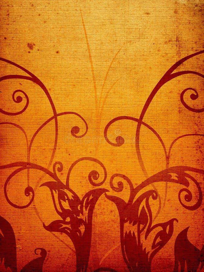brun decogrunge stock illustrationer