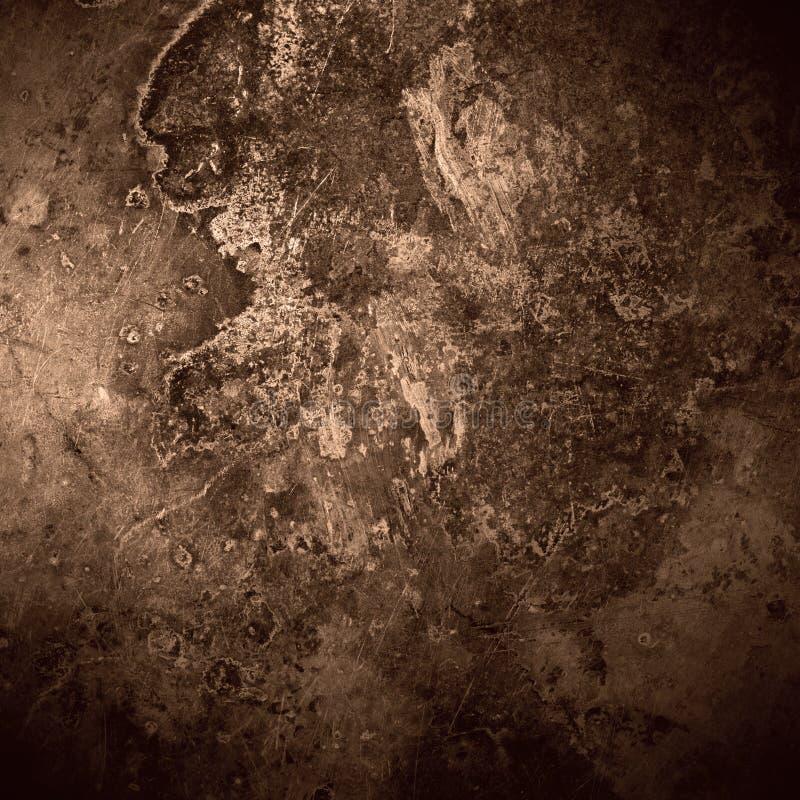 Brun gammal bakgrund för rostmetallplatta royaltyfri bild