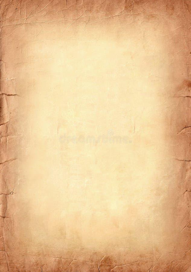 Brun gammal pappers- abstrakt sepiagrungebakgrund royaltyfri bild