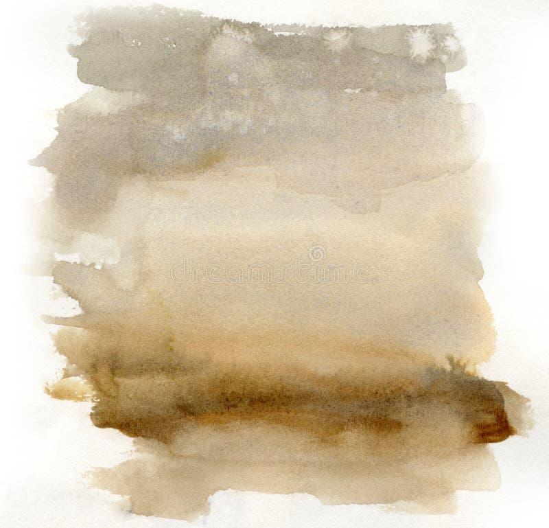 brun gris de texture de fond grunge d'aquarelle illustration stock