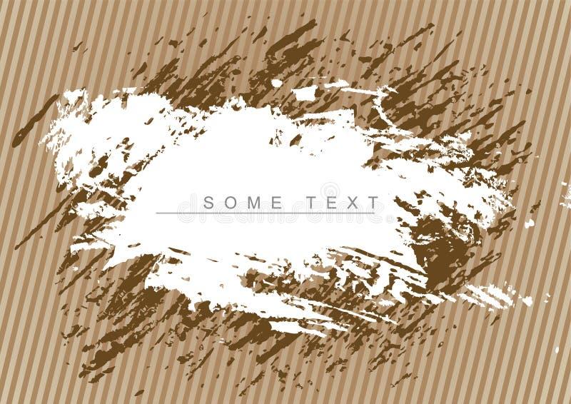 brun grunge för bakgrund stock illustrationer