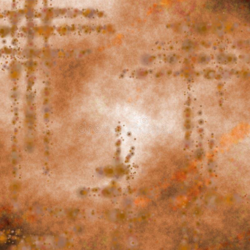 brun grungetegelplatta stock illustrationer