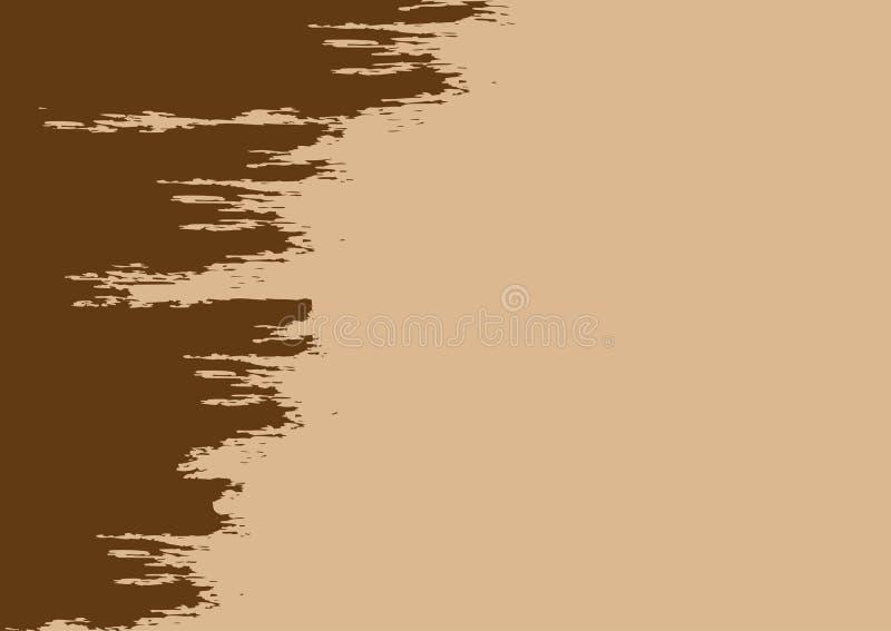 brun grungetextur Rektangulär horisontalbakgrund med en sönderriven kant vektor illustrationer