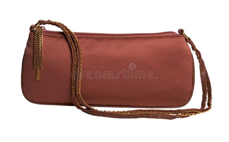 brun handväska royaltyfri bild