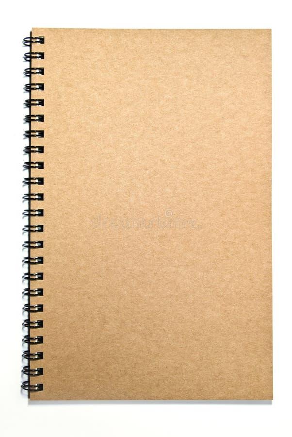 brun isolerad anteckningsbok för räkning grunge arkivfoto