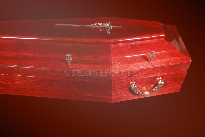 Brun kista, närbildsikt royaltyfria foton