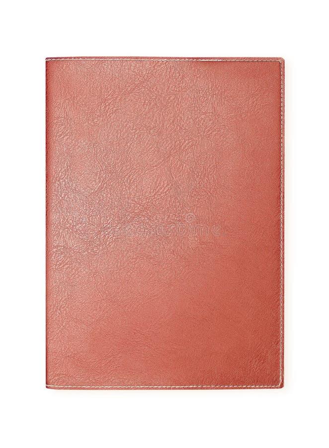 Brun läderanteckningsbok som isoleras på vit royaltyfri foto