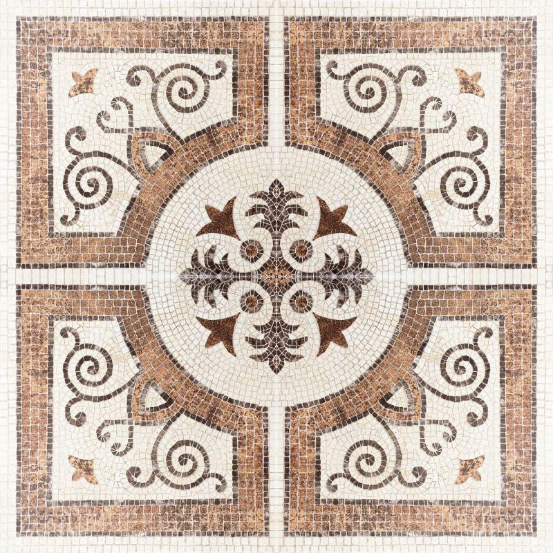 Brun marmor-sten mosaiktextur (Höjdpunkt res ), royaltyfri fotografi