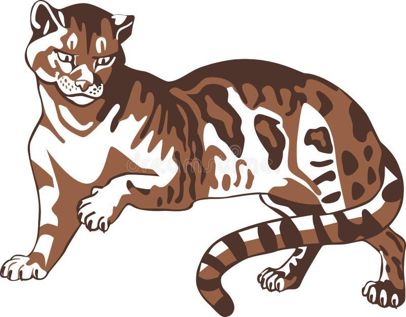 brun panter stock illustrationer