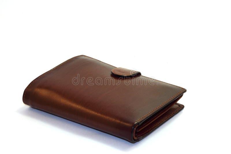 brun plånbok arkivfoto