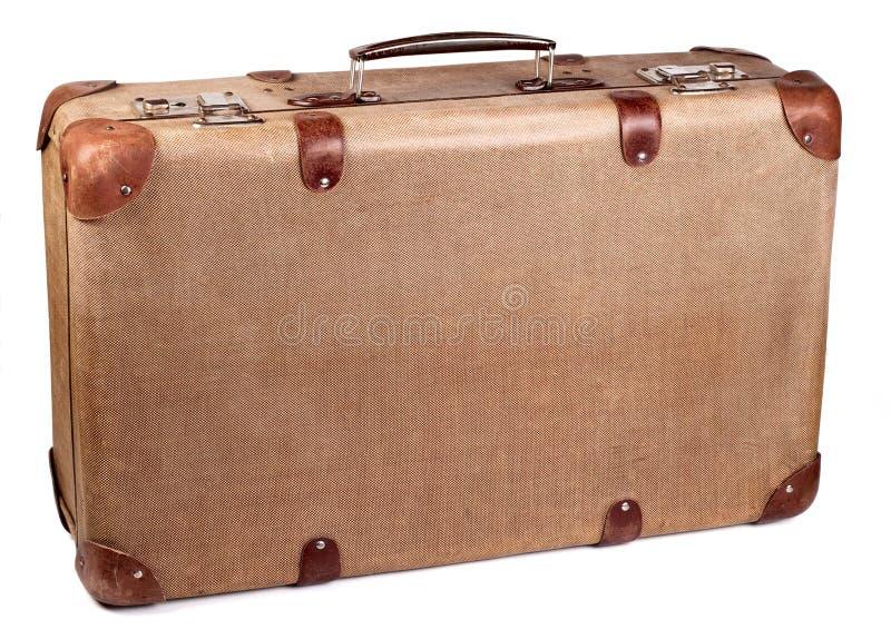 brun resväskatappning royaltyfria bilder