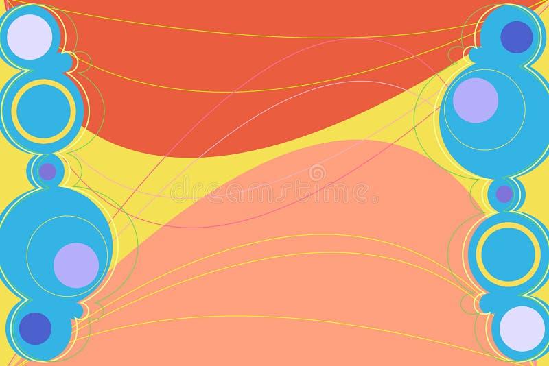 brun retronation royaltyfri illustrationer