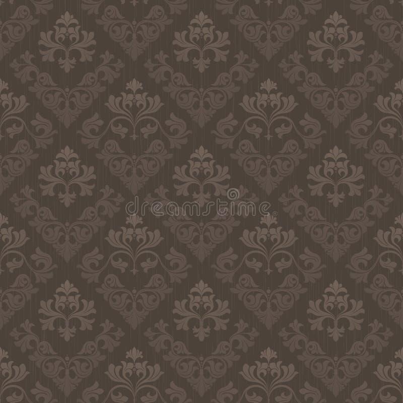 brun seamless tappningwallpaper stock illustrationer