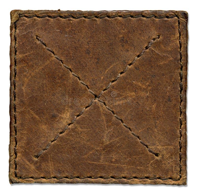 brun skrapad läderlapp arkivfoton