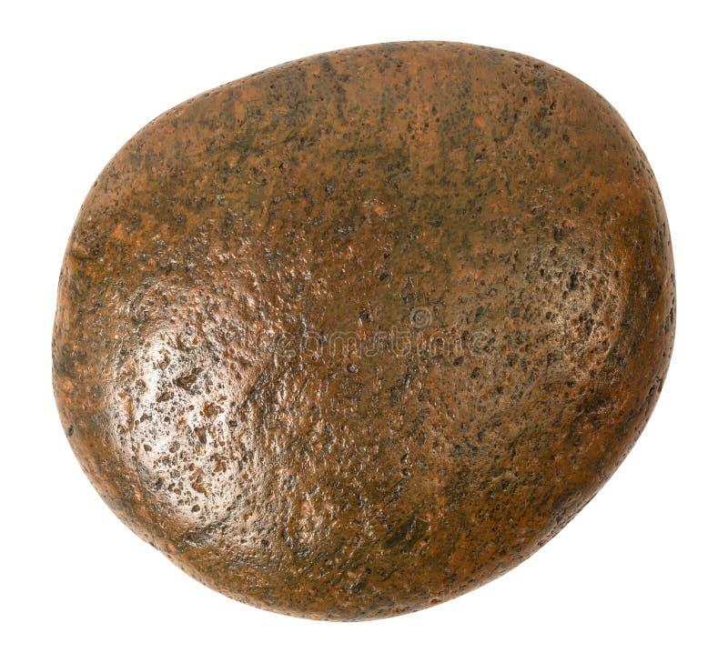 Brun sten som isoleras p? vit bakgrund Tr?dg?rdstenar f?r garnering p? bana Snabb bana royaltyfria foton