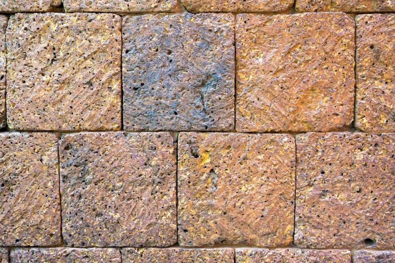 Brun stenvägg royaltyfri bild