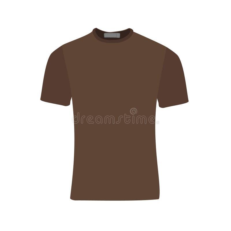 Brun t-skjorta royaltyfri illustrationer
