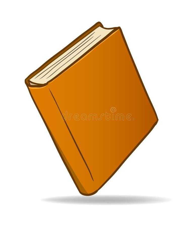 brun tecknad film för bok stock illustrationer