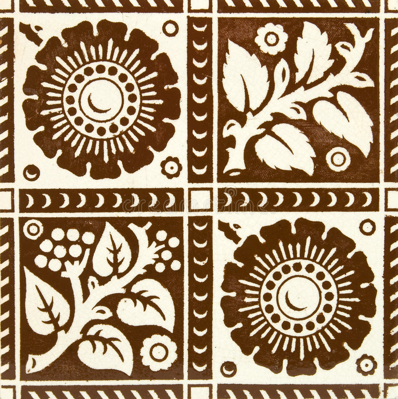 brun tegelplatta arkivbilder