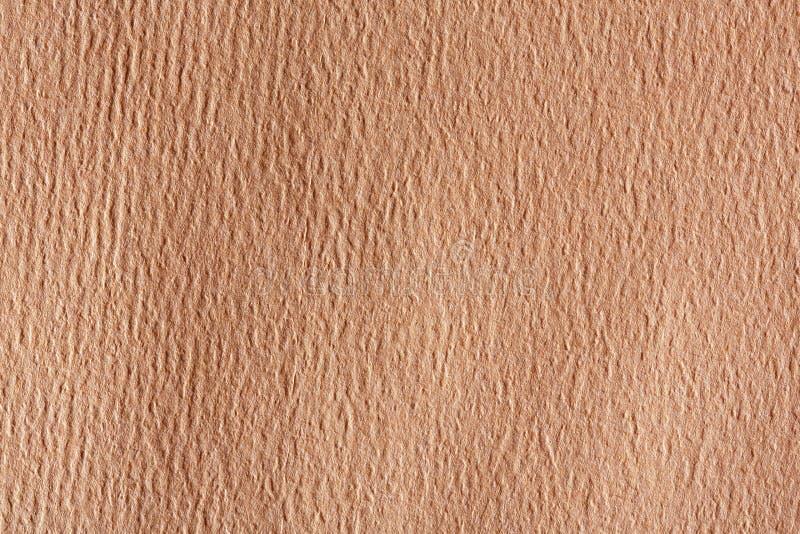 Brun textur för kraft papper Bakgrund för wellpappask arkivbild