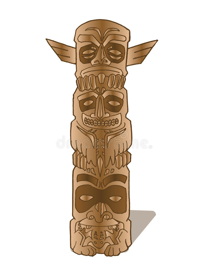 brun totem vektor illustrationer