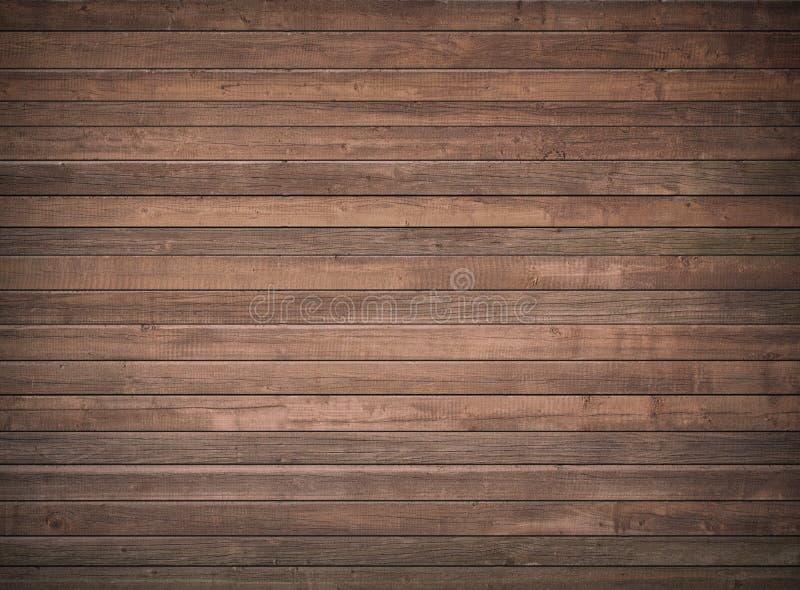 Brun trävägg, tabell, golvyttersida mörkt texturträ arkivbild