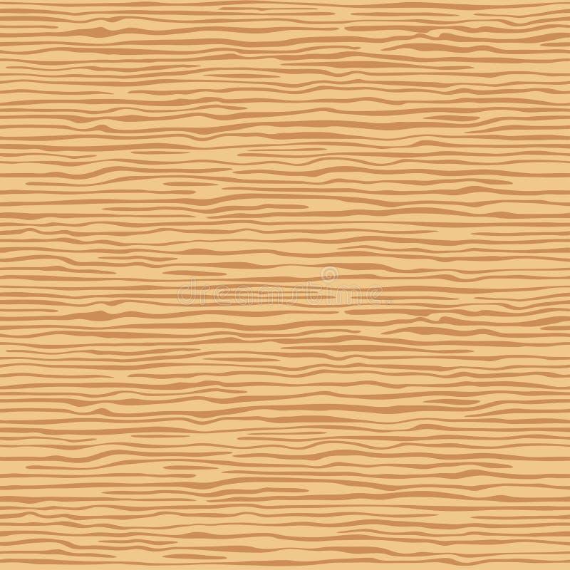 Brun träväggplanka, tabell eller golvyttersida Bitande skärbräda Wood textur för Ð-¡ artoon, sömlös bakgrund för vektor royaltyfri illustrationer