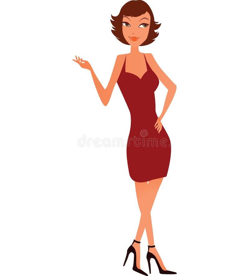 brun trevlig kvinna royaltyfria bilder