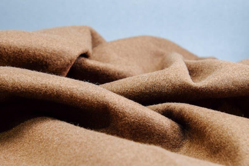 Brun tygtextur, brun filt royaltyfria foton