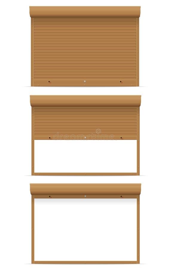 Brun vektorillustration för rullande slutare stock illustrationer