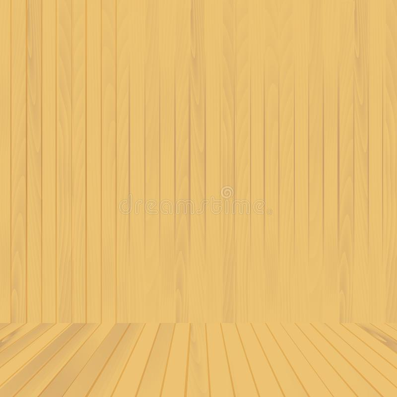 Brun wood golv- och väggbakgrund för din design vektor vektor illustrationer