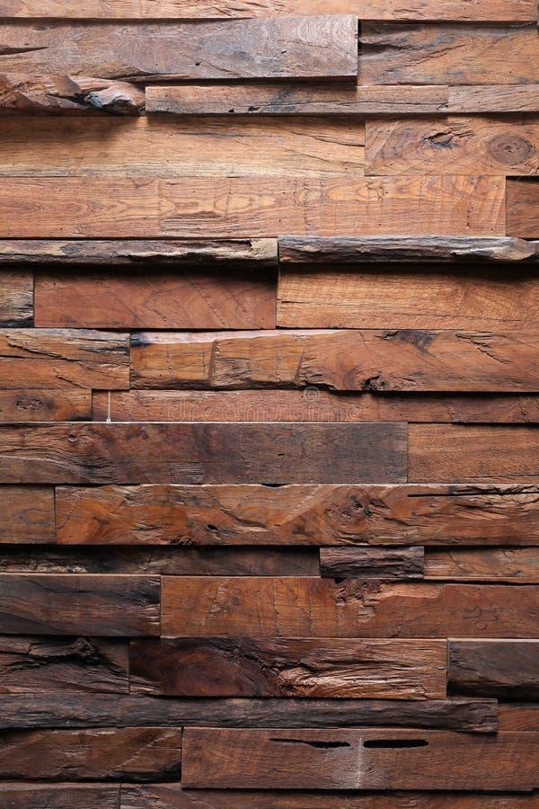 Brun wood plankabakgrund för timmer arkivbilder
