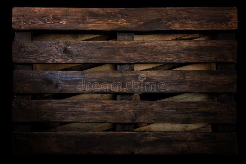 Brun wood plankatextur för timmer, industriell bakgrund för timmervägg arkivfoton