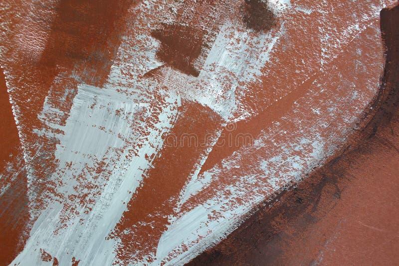 Bruna färger på kanfas abstrakt konstbakgrund Färgtextur Fragment av konstverk abstrakt kanfasmålning vektor illustrationer